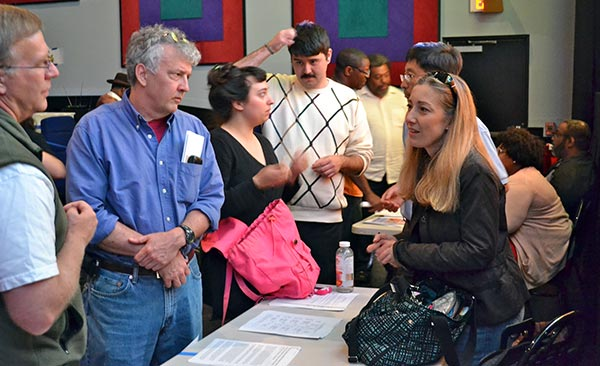 Attendees mingled and learned about food initiatives across our city.