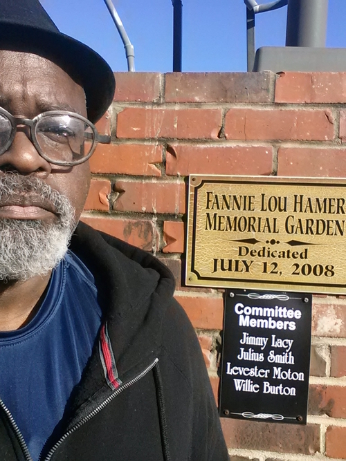 Ed Whitfield at the Fannie Lou Hamer Memorial Garden