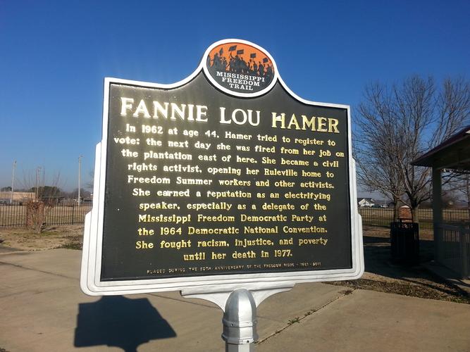 Fannie Lou Hamer historical marker