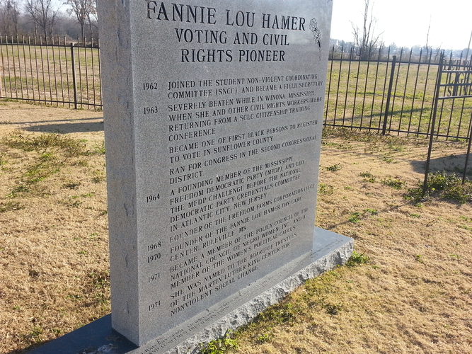 Fannie Lou Hamer memorial