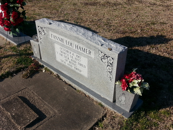 Fannie Lou Hamer tombstone
