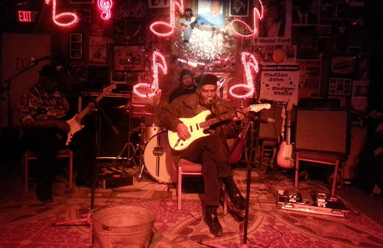 BLues music in Red's Juke Joint